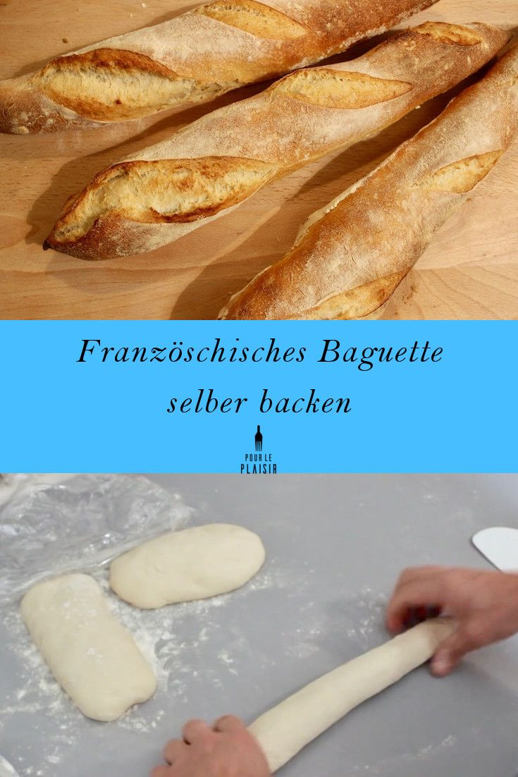 Rezept Französisches Baguette zu Hause backen. Leckere Baguettes selber machen. Ist gar nicht so schwer. Mit diesem Baguette Rezept gelingt es auch euch. Der Duft von frischem Baguette liegt schon in der Wohnung. Probiert es aus!