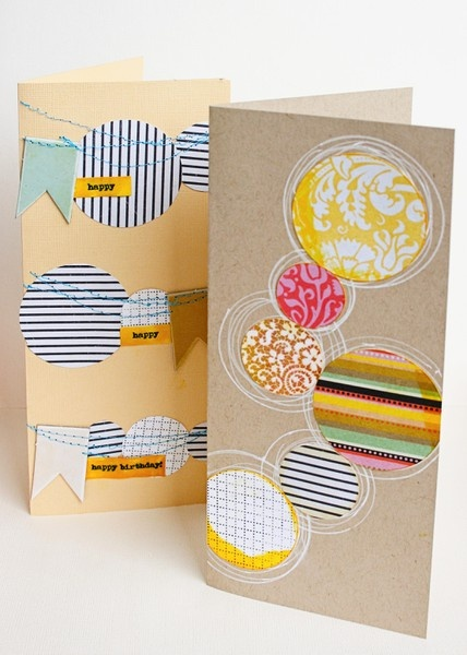 love the circles.  by jill sprout: Scrapbook Ideas, Cards Ideas, Circles Cards, Gifts Ideas, Cardmaking Galleries, Birthday Cards, Cardmaking Ideas, Ideas Diy, Cards Inspiration