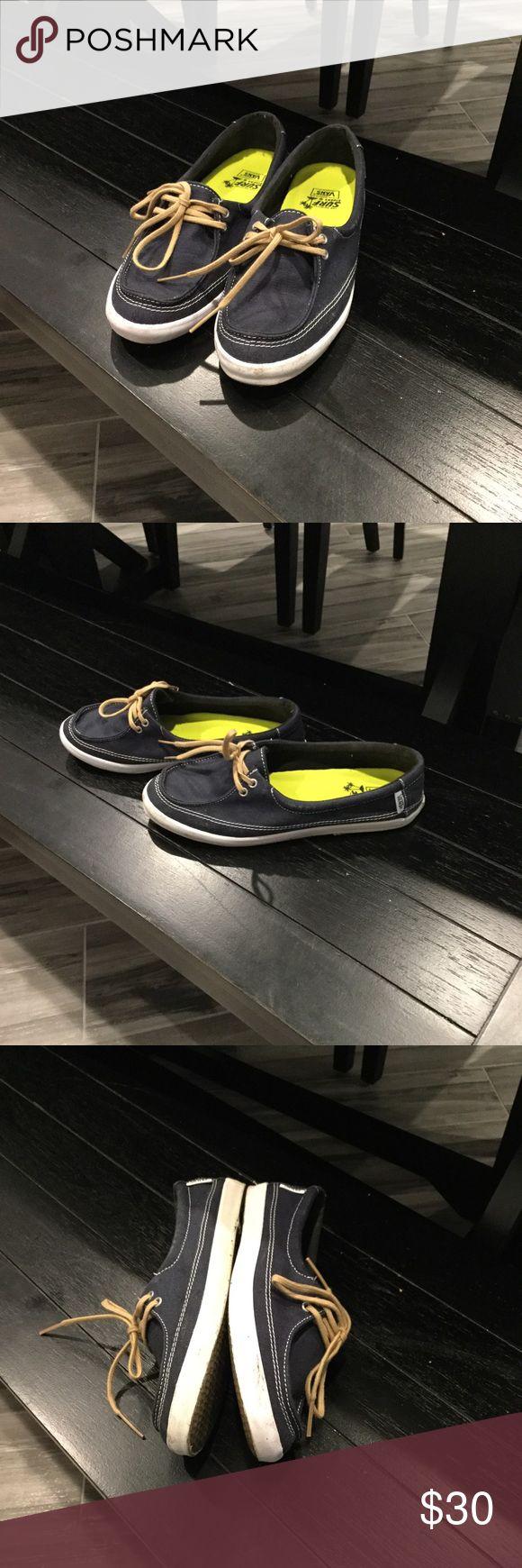 Worn a few times navy vans Navy vans size 7 women Vans Shoes Sneakers