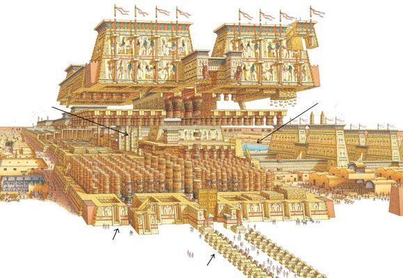 25 best Ancient Egyptian Temples Floor Plans and Layouts images on