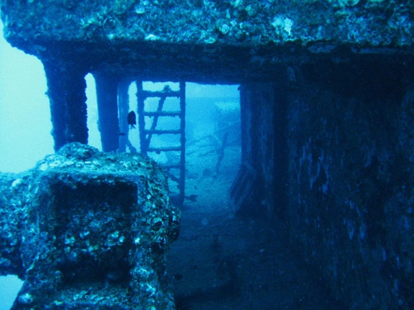 The Sea Tiger ship wreck off of Oahu