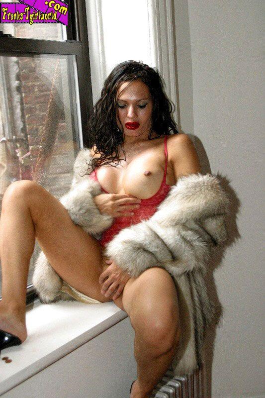 from Duke shemale in fur coat
