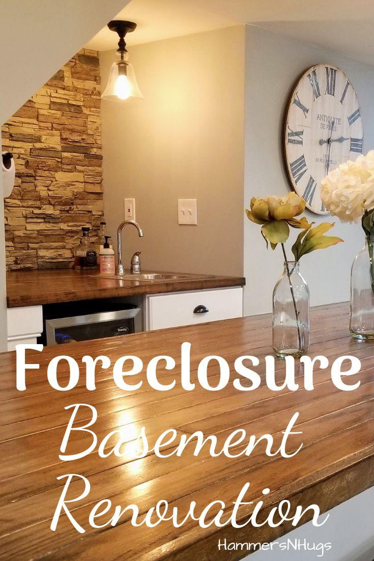 Colonial foreclosure basement renovation hammers n hugs