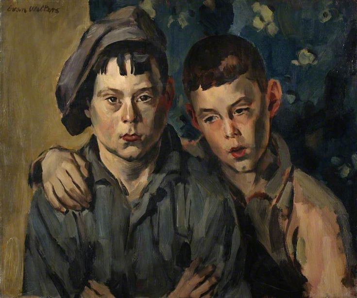 Brothers c.1927 by Evan Walters (Welsh 1893–1951)