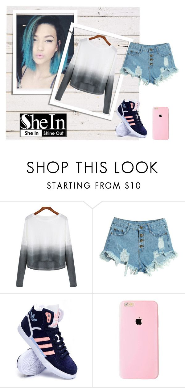 """""""Kylie Jenne"""" by wwwff ❤ liked on Polyvore featuring WithChic, adidas, women's clothing, women's fashion, women, female, woman, misses and juniors"""