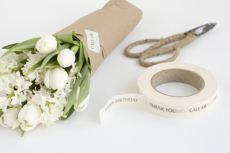 Flowers to go out with final package?  Gallery Paper and personalised tape