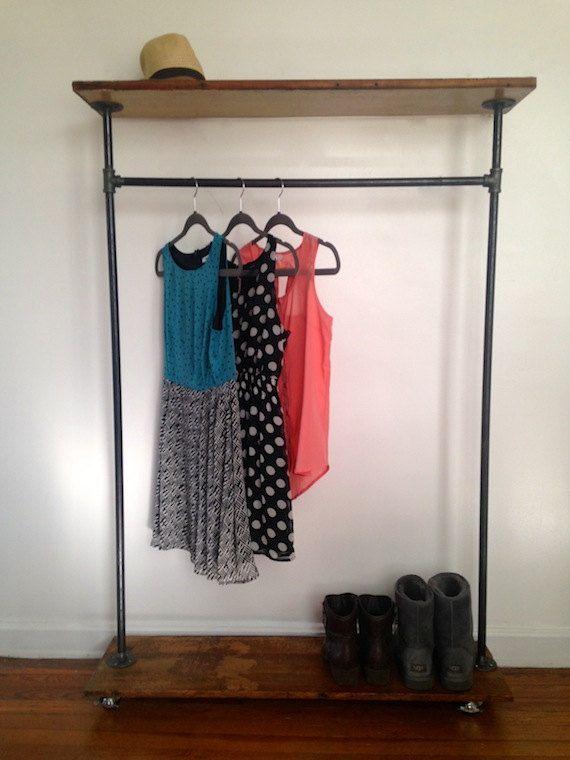 Logan Square Garment Rack // Reclaimed Wood & Pipe by ReclaimedPA, $240.00