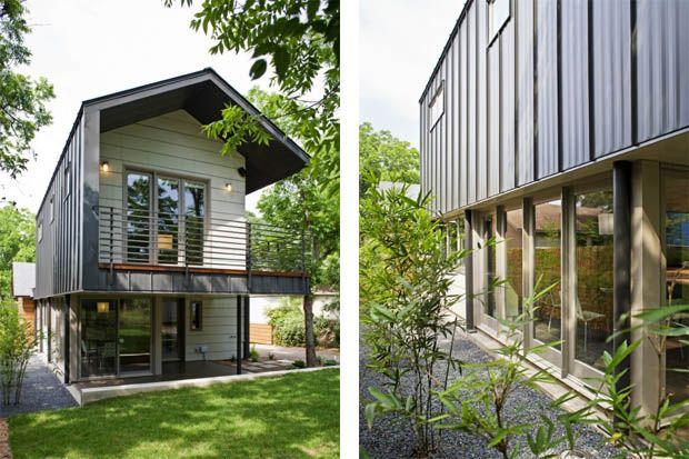 ผนังบ้าน แผ่นเมทัลชีทสีดำ สร้างบ้านให้ดูทันสมัย