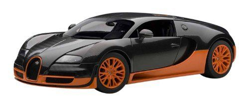 """AUTOart 1/18 scale, die-cast miniature cars. Announced in 2010 a """"Veyron Super Sport"""", maximum output 1200ps to strengthen the suspension and aero parts. It is a super high-quality, high-performance super car that 200 million 89 million yen selling price. Fastest average 431.072km / h,... more details available at https://perfect-gifts.bestselleroutlets.com/gifts-for-babies/toys-games-gifts-for-babies/product-review-for-autoart-1-18-bugatti-veyron-super-sport-carbon"""