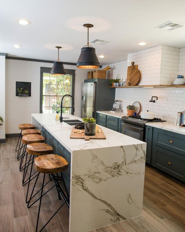 Rustic Kitchen Deep Colored Painted Cabinets   TheBestWoodFurniture.com