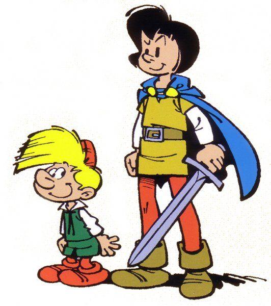 Johan et Pirlouit sont deux personnages créés par Peyo. C'est une série de bande dessinée belge, publiée pour la première fois dans Spirou le 11 septembre 1952 avant de mettre le premier album Le Châtiment de Basenhau en publication le janvier 1954 par Dupuis. Après la mort de l'auteur, elle est reprise en 1994 par Yvan Delporte et dessinée par Alain Maury.