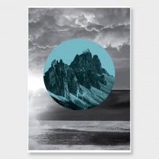 Mountain Peaks Art Print by Duett Design