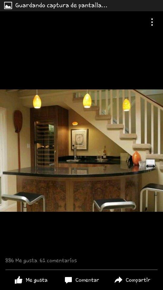 Cantina debajo escalera hogar pinterest for Barra bajo escalera