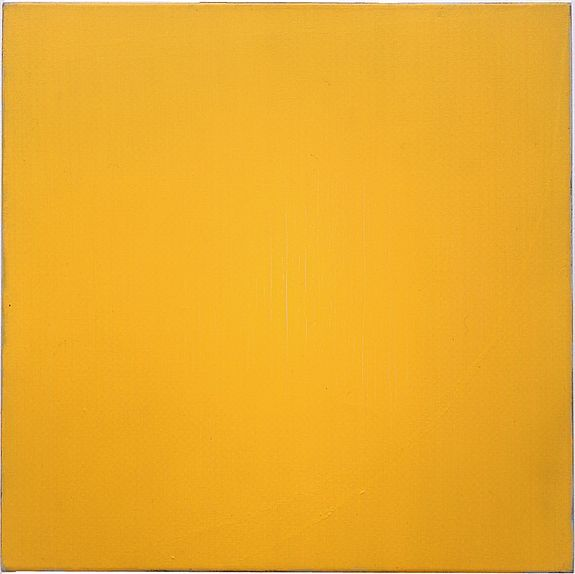 Raoul De Keyser - Drie krijthoek correcties - 1977-1979, olieverf, krijt op doek, 72,5 x 72,5 cm