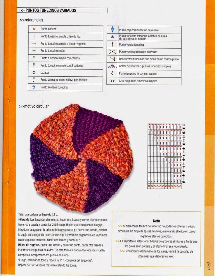 13 best punto tunecino mio images on Pinterest | Crochet tunecino ...