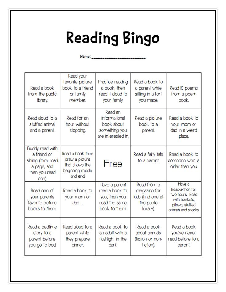 Great idea for reading at home.