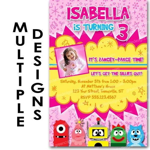 34 best images about yo gabba party on pinterest | shops, birthday, Birthday invitations