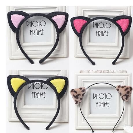 2016 Cute Headwear Heart Cat Ears Character Headbands for Women Party Adult Hello Kitty Accessories Hair bands