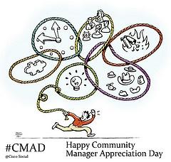 Jeremiah Owyang perusti CMAD-tapahtuman yhteisömanagereiden työtä kunnioittaakseen.