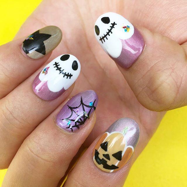 明日は👻Halloween🎃❤️ @nailparfaitgel の マグネットジェルを使って Halloween nail👻✨ やり方はCchannel📺にUPされてます🙌 *エマンローズグリ *エマンドーレ *エマンリラ #nailparfait#nailparfaitgel#Halloween#Halloweennails#nails#nail#nailswag#nailstagram#instanails#ネイルパフェ#ネイルパフェジェル#ハロウィンネイル#ハロウィン#ジェルネイル#セルフネイル#マグネットジェル#秋ネイル