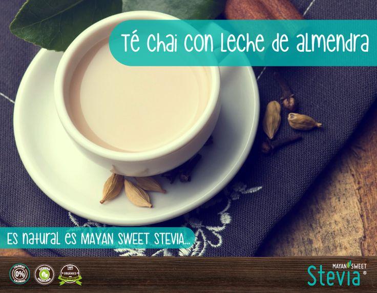 ¿Nos se les antoja este delicioso Té Chai Latte con leche de almendra? ideal para despertar y endulzar la mañana  #TeChai #Organico #Healthy Es natural es #MayanSweetStevia