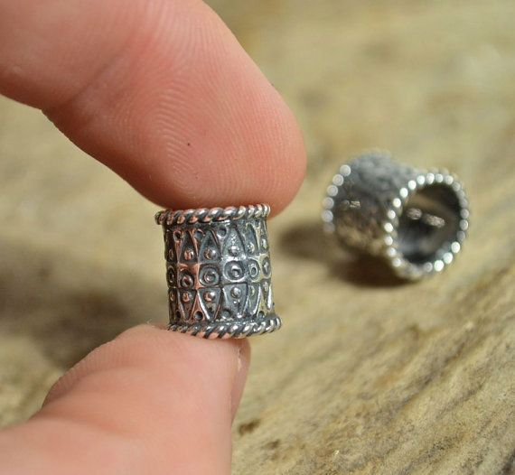 VIKING BEARD RING Sterling Silver Bead Accessory Re-enactment Reenactment
