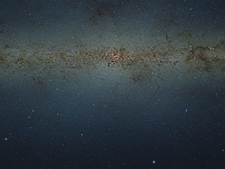 This view of the central parts of the Milky Way was obtained with the VISTA survey telescope at ESO's Paranal Observatory in Chile. The huge picture contains nearly nine billion pixels and was created by combining thousands of individual infrared images from VISTA into a single monumental mosaic. The image is too large to be easily displayed at full resolution.