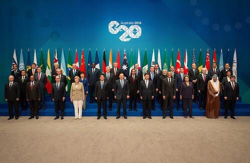 G20 2014 Official Photo Brisbane Australia