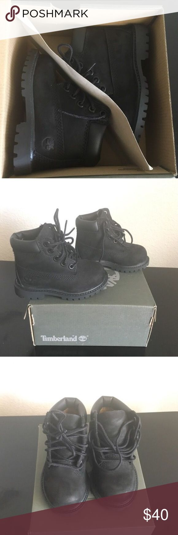 Toddler Timberland Boots Original box included. 5c. Mint condition. Worn twice. Timberland Shoes Boots