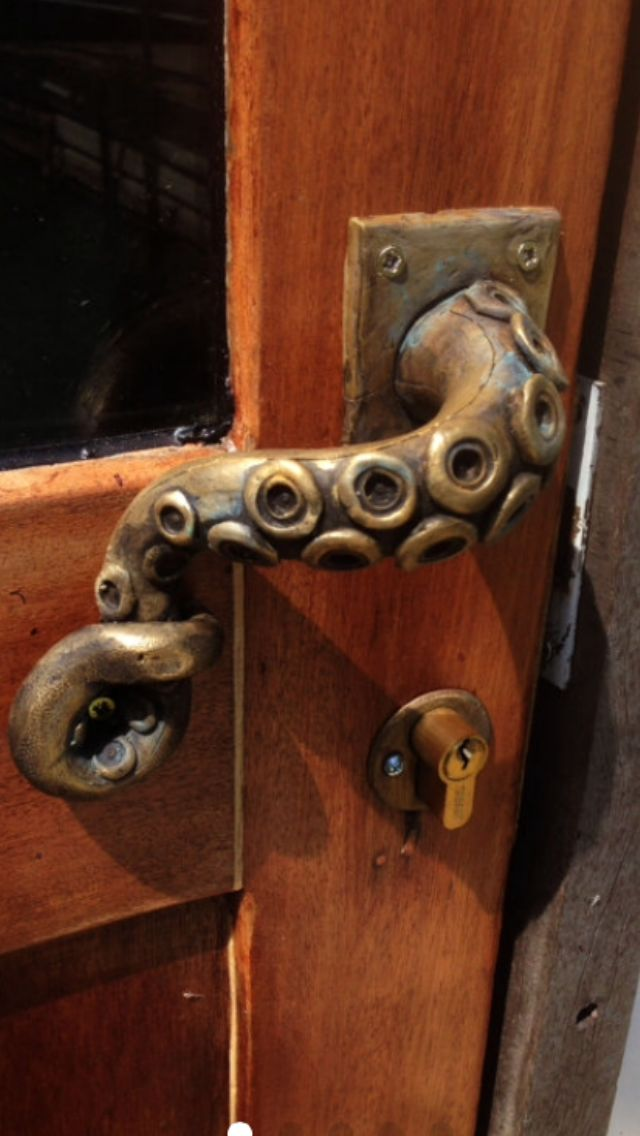 octopus door handle ste&unk vintage by GregsHome on Etsy & Best 20+ Door knobs ideas on Pinterest | Door handles Vintage ... Pezcame.Com