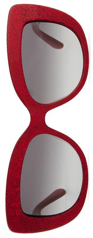 kate spade new york ursula glitter cat-eye sunglasses