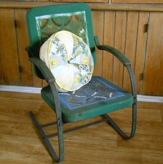 133 besten vintage outdoors bilder auf pinterest metallgartenst hle gartenm bel und rostiges. Black Bedroom Furniture Sets. Home Design Ideas