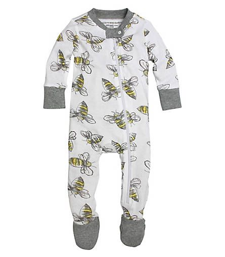 Watercolor Bee Sleeper: Color - Heather Grey
