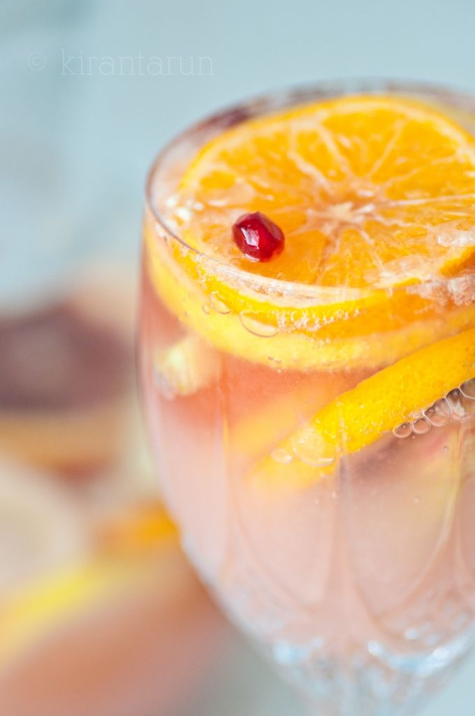 ❥ Citrusy Champagne Sangria~ great for Valentine's Day