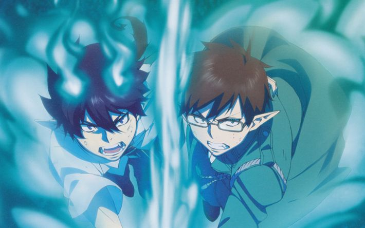 Download wallpapers Rin Okumura, Nemu Takara, manga, Blue Exorcist, Ao no Exorcist