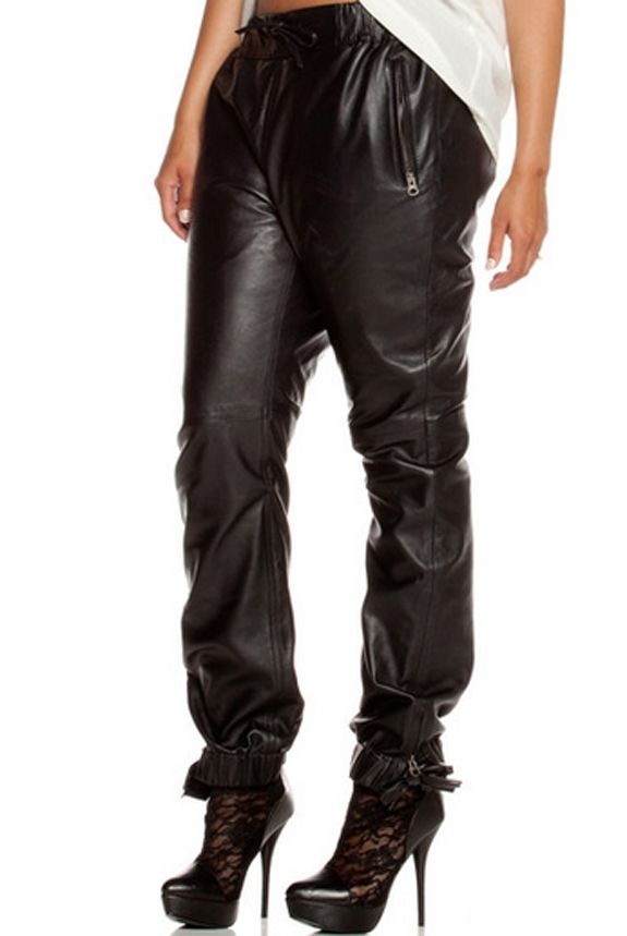 Faux Leather Jogging Pants - Bing images