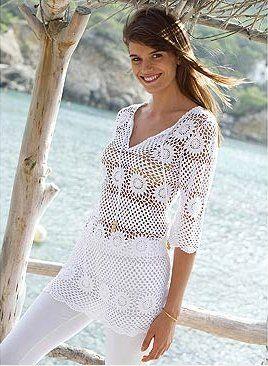 crochet tunic      ♪ ♪ ... #inspiration #diy GB http://www.pinterest.com/gigibrazil/boards/