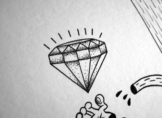 Image result for Diamond Heart Tattoo Design Drawings