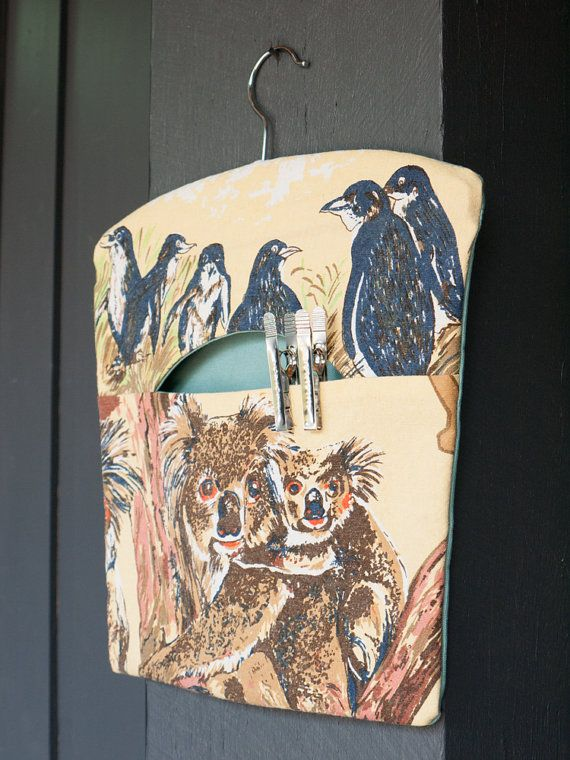 Australian native animal handmade fabric peg by freshdarling