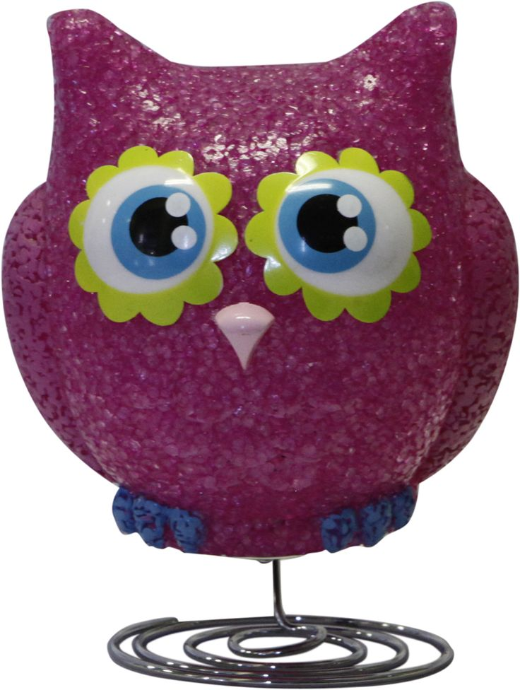 Pink Owl Lamp - Girls Bedroom Nursery Night Light Prev Stop Play Next This super-cute pink Owl Lamp is a great way to add character and comfort to a child's bedroom. The soft 6 watt bulb emits a gentle light, creating a soothing bedtime atmosphere. Made from soft EVA material on a chrome wire base. It includes the power adaptor, bulb, instructions and comes packaged in a clear display box. One of our best sellers. Safety Note This is an electrical product, not a toy! Please follow safety…