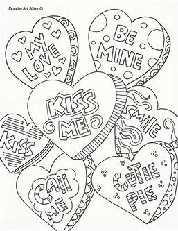 Image Result For Valentine S Day Coloring Pages Adult Color My