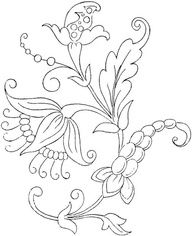 beautiful floral embroidery pattern