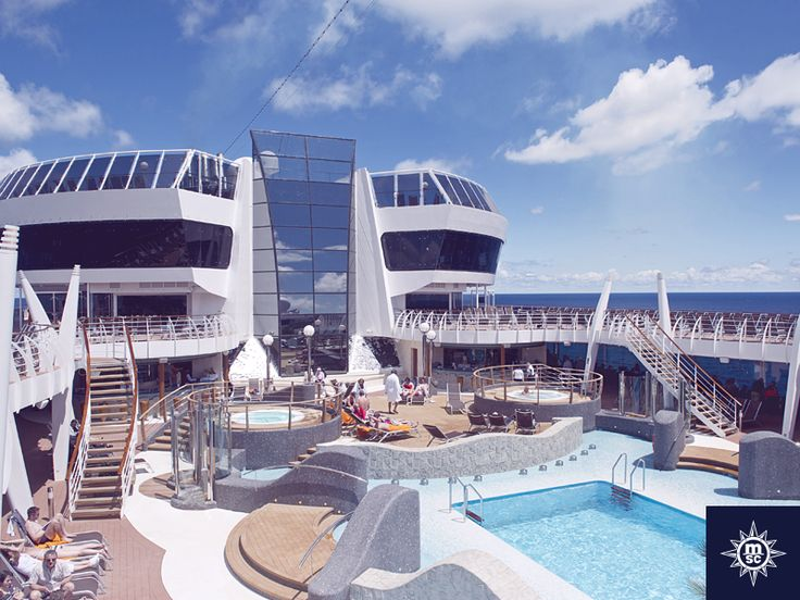 Enjoy a lazy day on board #MSCDivina soaking up the Caribbean sun before a dip in the pool.