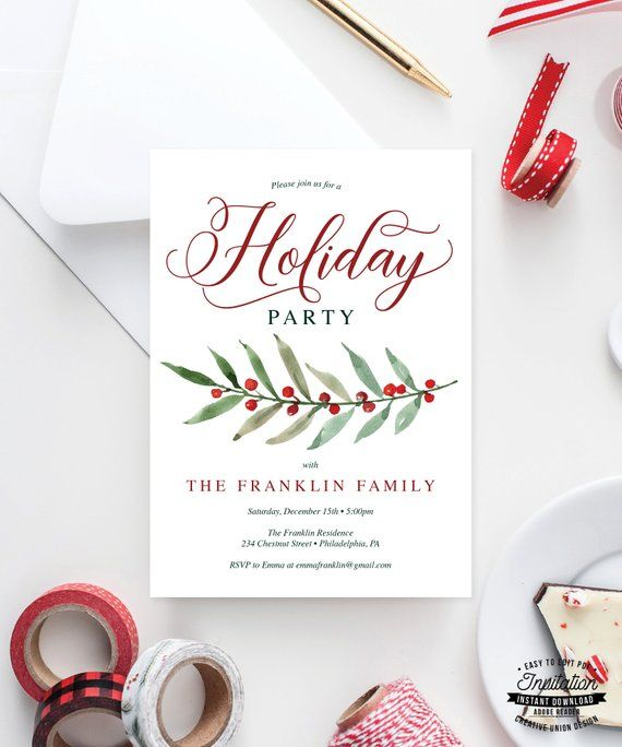 Holiday Party Invitation - Christmas Party Invites - Annual