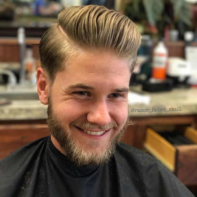 WEBSTA @flatmax Repost: @razor_faded_skull✂️ Shop: The Barbershop Location: Eugene/OR - US •------------------•  Express Post: Happy clients are the best ones. I think he's happy with his cut. I really like it with its classic appeal. It has both the charm old and the magic of the new one! Great volume, a great finish, a great looking cut! •------------------•