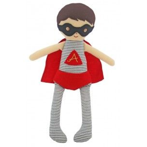 Alimrose Super Hero Doll Rattle (30cm) - Silly Milly Moo