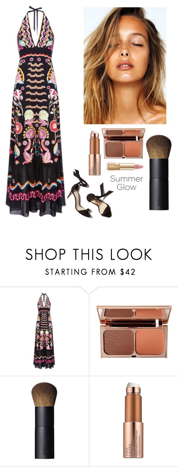 """""""Summer"""" by kotnourka ❤ liked on Polyvore featuring beauty, Temperley London, Charlotte Tilbury, NARS Cosmetics, Estée Lauder and Dolce&Gabbana"""