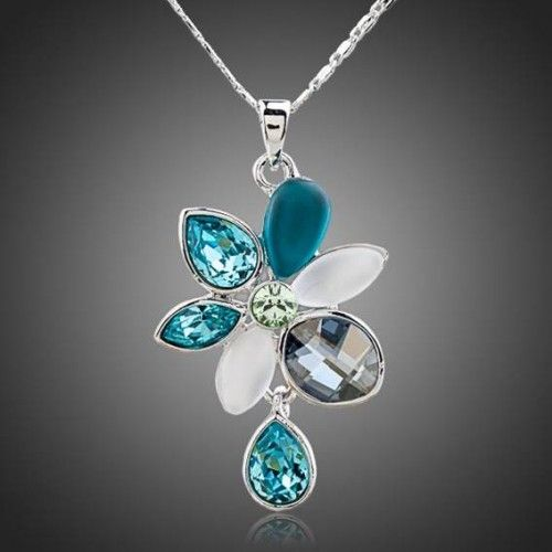 Crystal Pendant 'Morning Flower' - Shop online now at www.lillyjack.com.au