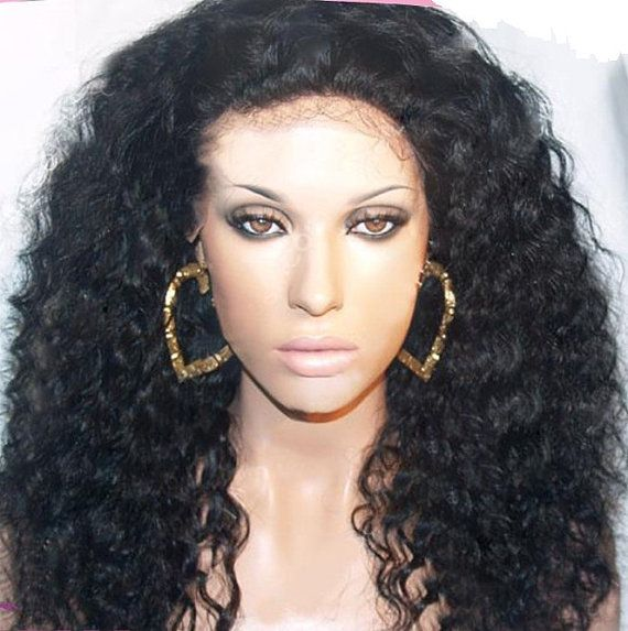 Curly Indian Remy Hair Full Lace Wig Part Anywhere