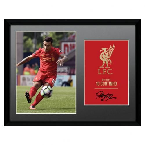 Liverpool FC Picture Coutinho 16 x 12